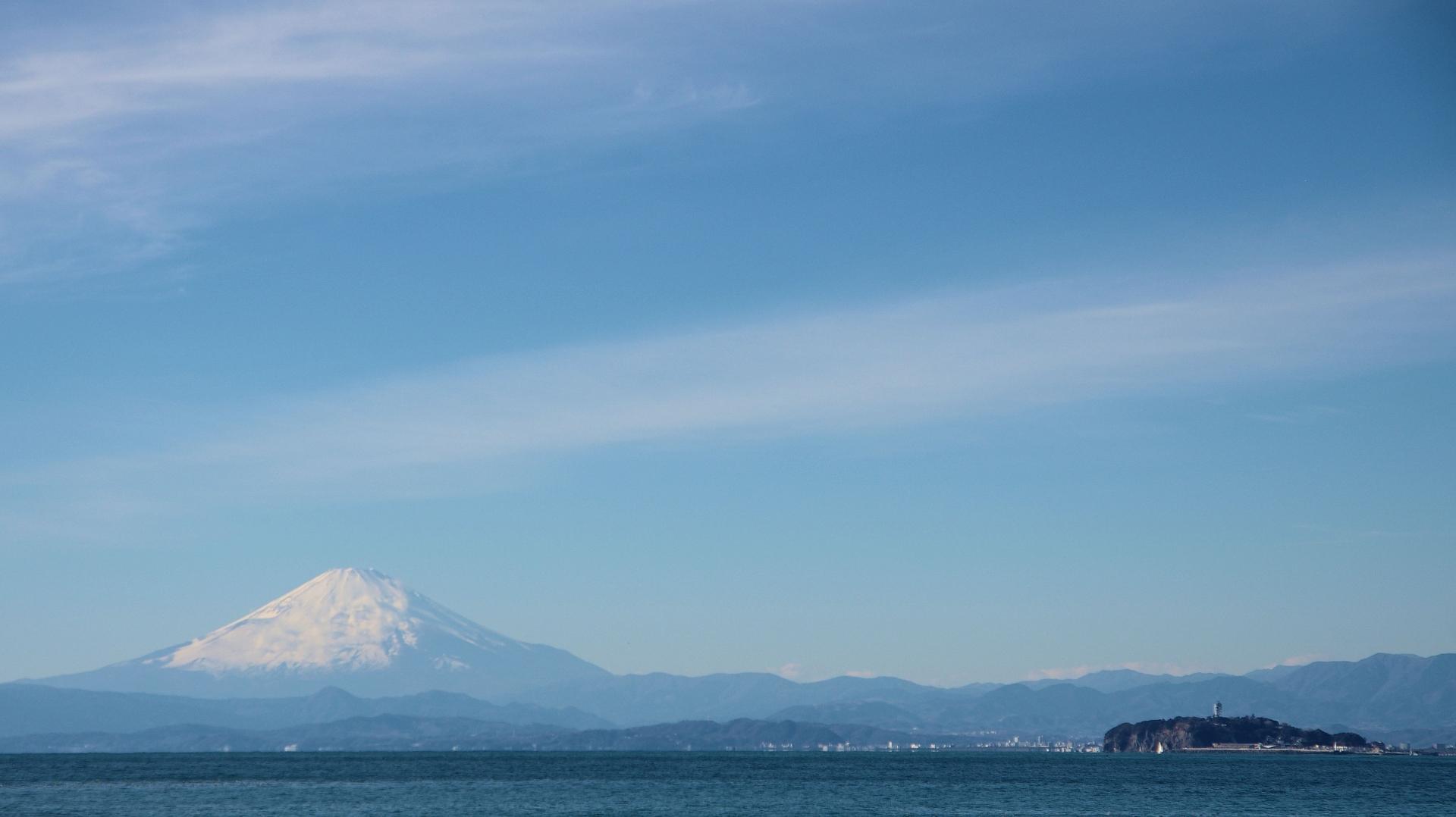 葉山から見える富士山